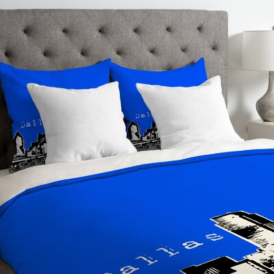 Bird Ave Lightweight Dallas Duvet Cover Color: Royal, Size: Queen
