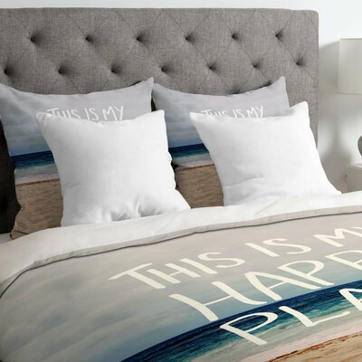 Leah Flores Lightweight Happy Place X Beach Duvet Cover Size: Queen