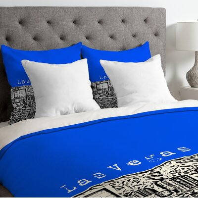 Bird Ave Lightweight Las Vegas Duvet Cover Size: Twin, Color: Royal