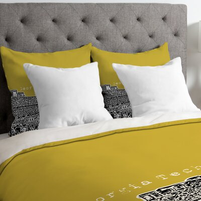 Bird Ave Lightweight Georgia Tech Duvet Cover Size: King