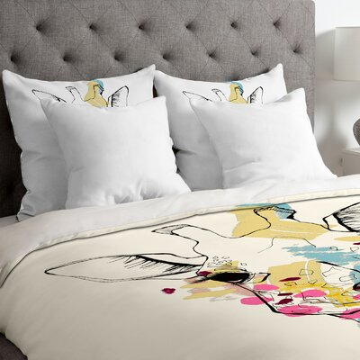 Casey Rogers Lightweight Giraffe Color Duvet Cover Size: King