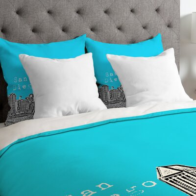 Bird Ave Lightweight San Diego Duvet Cover Color: Sky, Size: Queen