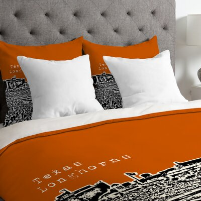 Bird Ave Lightweight Texas Longhorns Duvet Cover Size: King
