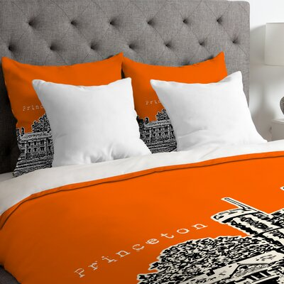 Bird Ave Lightweight Princeton University Duvet Cover Size: King