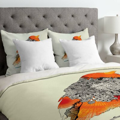Iveta Abolina Lightweight Bird Duvet Cover Size: King