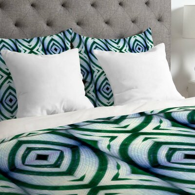 Wagner Campelo Lightweight Maranta Duvet Cover Size: King, Color: Green