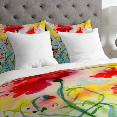 Ginette Fine Art Lightweight If Poppies Could only Speak Duvet Cover Size: Twin