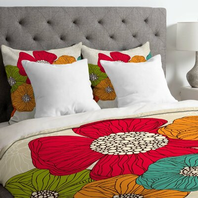 Valentina Ramos Lightweight Flowers Duvet Cover Size: King