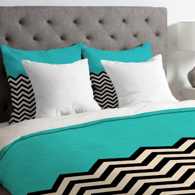 Bianca Green Lightweight Follow the Sky Duvet Cover Size: Queen, Color: Blue
