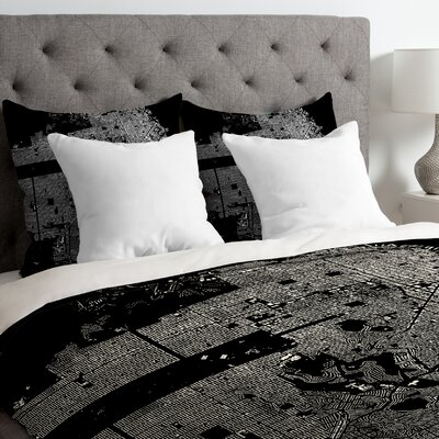 CityFabric Inc Lightweight San Francisco Duvet Cover Size: Twin, Color: Black