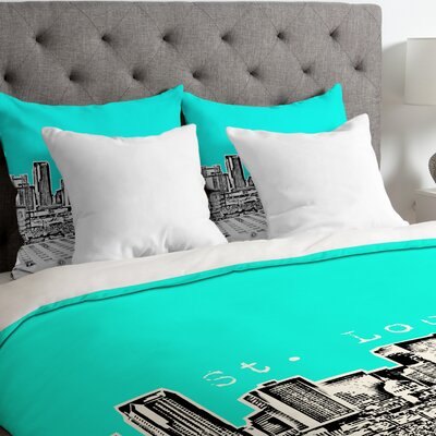 Bird Ave Lightweight St Louis Duvet Cover Size: King, Color: Aqua
