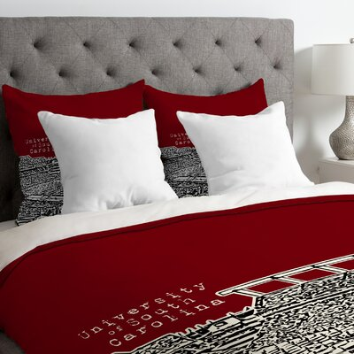 Bird Ave Lightweight University of South Carolina Duvet Cover Size: Twin
