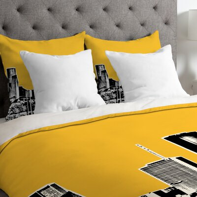 Bird Ave Lightweight Houston Duvet Cover Size: Twin, Color: Yellow