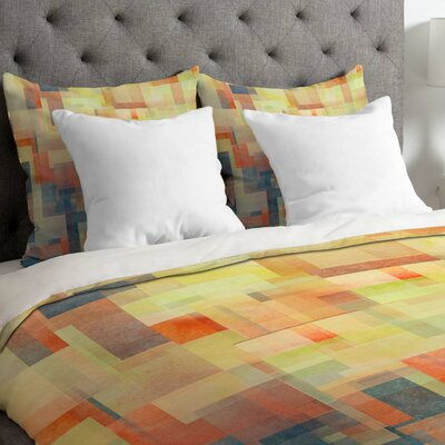 Jacqueline Maldonado Lightweight Cubism Dream Duvet Cover Size: Queen