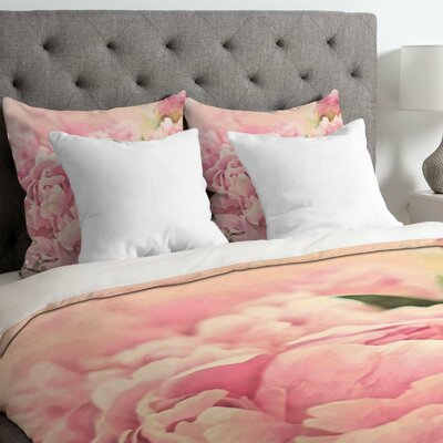 Lisa Argyropoulos Lightweight Peonies Duvet Cover Size: Queen