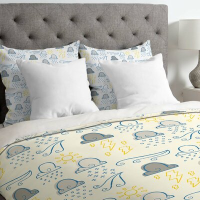 Jennifer Denty Lightweight Clouds Duvet Cover Size: Twin