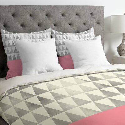 Georgiana Paraschiv Silver Triangles Lightweight Duvet Cover Size: Twin/Twin XL