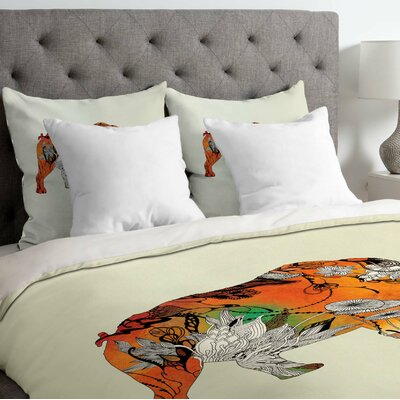 Iveta Abolina Lightweight Rhino Duvet Cover Size: Queen