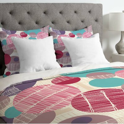 Rachael Taylor Lightweight Textured Geo Duvet Cover Size: Twin, Color: Multi-Color