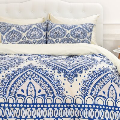 Aimee St Hill Decorative Duvet Cover Size: King, Color: Blue, Fabric: Lightweight
