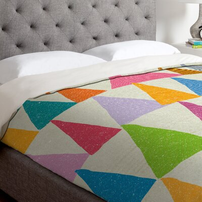 Nick Nelson Analogous Shapes Duvet Cover Size: King, Fabric: Lightweight