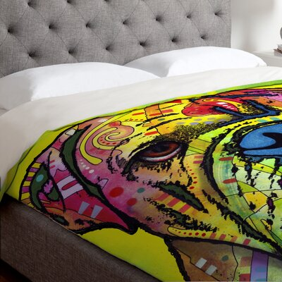 Dean Russo Hey Bulldog Duvet Cover Size: Queen, Fabric: Lightweight