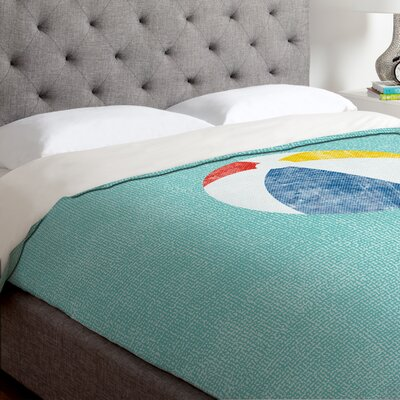 Nick Nelson Lifes A Beach Duvet Cover Size: Twin, Fabric: Lightweight