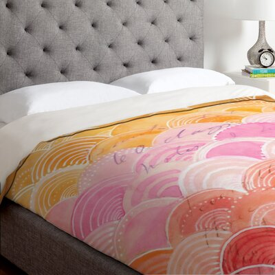 Cori Dantini Warm Spectrum Rainbow Duvet Cover Size: King, Fabric: Lightweight