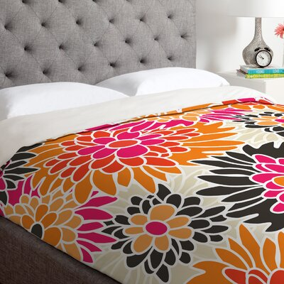 Andrea Victoria Summer Tango Floral Duvet Cover Size: Queen, Fabric: Lightweight