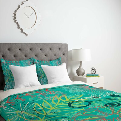 Kerrie Satava Summer Burst Duvet Cover Size: Queen, Fabric: Lightweight