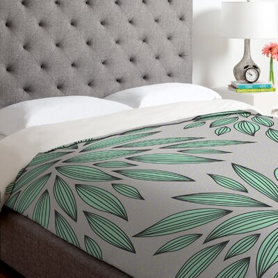 Gabi Mint Duvet Cover Size: Twin, Fabric: Lightweight