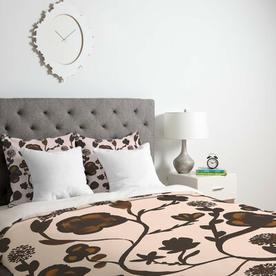 Georgiana Paraschiv Floral II Duvet Cover Size: Twin, Fabric: Lightweight