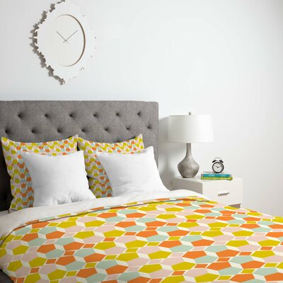 Hello Twiggs Bring Summer Back Duvet Cover Size: Queen, Fabric: Lightweight