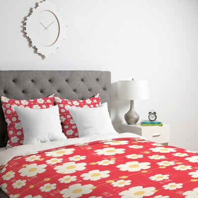 Ali Benyon Kandy Love Duvet Cover Size: King, Fabric: Lightweight