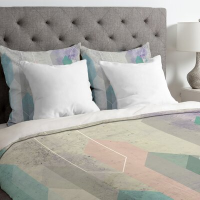 Emanuela Carratoni Raw Gem Duvet Cover Size: Queen