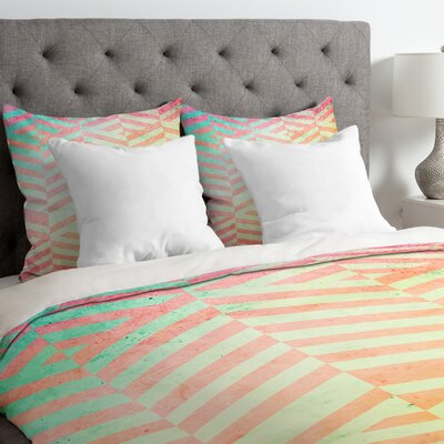 Emanuela Carratoni Chevron Pattern Duvet Cover Size: King