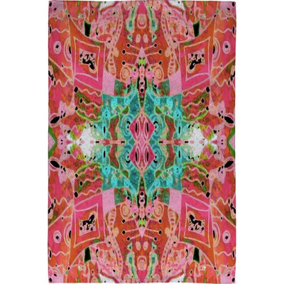 Ingrid Padilla Flora 1 Pink Area Rug Rug Size: 2 x 3