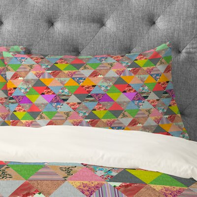 Bianca Green Lost In Pyramid Pillowcase Size: King