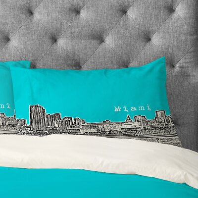 Bird Ave Miami Pillowcase Size: Standard, Color: Teal