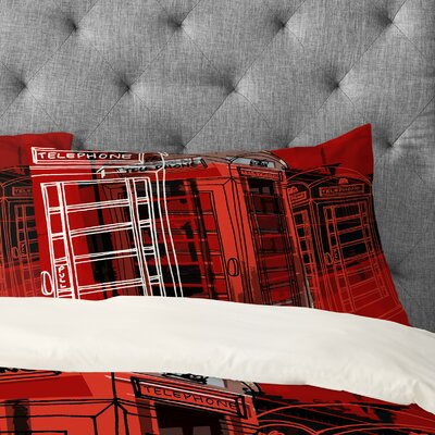Aimee St Hill Phone Box Pillowcase Size: King