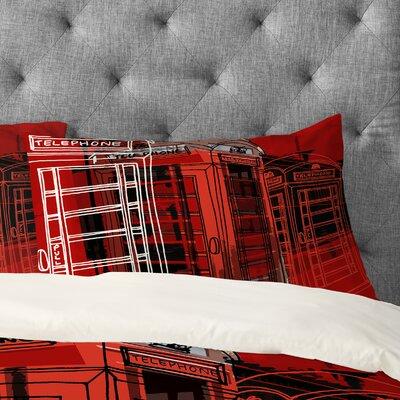 Aimee St Hill Phone Box Pillowcase Size: Standard