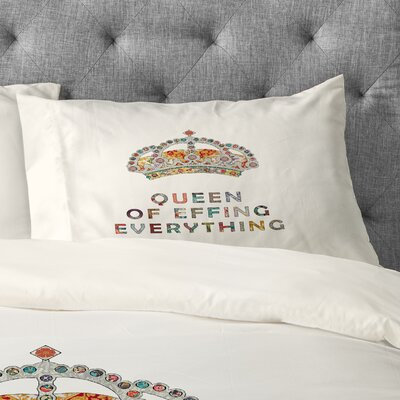 Bianca Green Her Daily Motivation Pillowcase Size: King