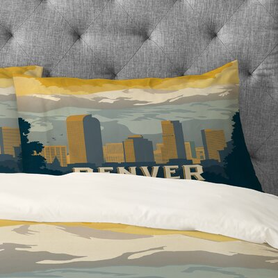 Anderson Design Group Denver 1 Pillowcase Size: King