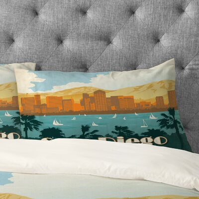 Anderson Design Group San Diego Pillowcase Size: King