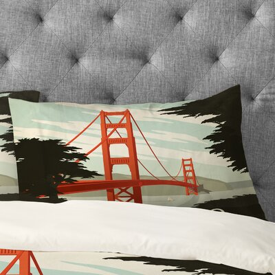 Anderson Design Group San Francisco Pillowcase Size: Standard