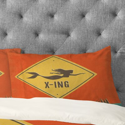 Anderson Design Group Mermaid X Ing Pillowcase Size: King