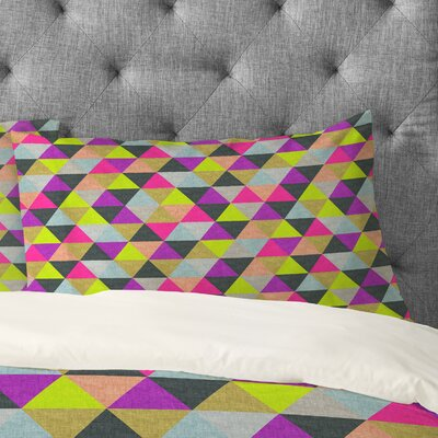Bianca Green Ocean Of Pyramid Pillowcase Size: King