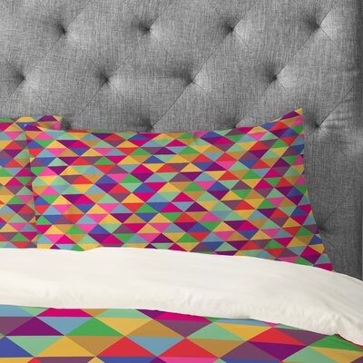 Bianca Green In Love With Triangles Pillowcase Size: King