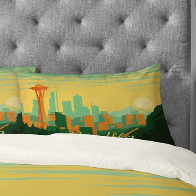 Anderson Design Group Seattle Pillowcase Size: King