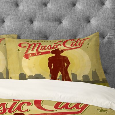 Anderson Design Group Music City Pillowcase Size: Standard